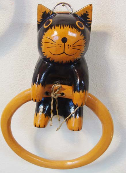 ネコのタオルハンガー(各3色)