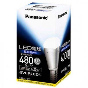 <img class='new_mark_img1' src='https://img.shop-pro.jp/img/new/icons30.gif' style='border:none;display:inline;margin:0px;padding:0px;width:auto;' />パナソニック Panasonic LED電球 小形電球形 480lm 昼光色相当 非調光タイプ【LDA6D-E17】