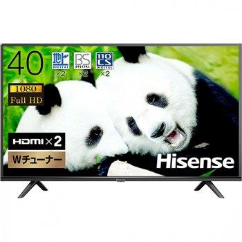 ハイセンス 40V型 フルハイビジョン 液晶テレビ ダブルチューナー 外付けHDD裏番組録画対応 3年保証 送料無料【40H38E】