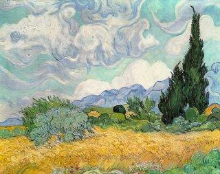 糸杉のある麦畑 (ロンドン・ナショナル・ギャラリー作品) 在庫あり 最短3営業日で発送