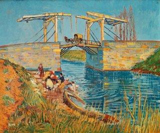 アルルのラングロワ橋と洗濯する女性たち  在庫あり 最短3営業日で発送
