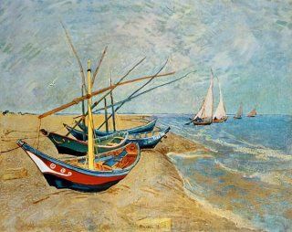 サン=マリの浜辺の釣舟  在庫あり 最短3営業日で発送