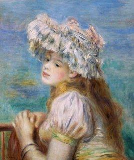 レースの帽子の少女  原画同寸 在庫あり 最短3営業日で発送
