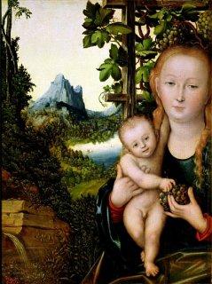 聖母子  原画同寸