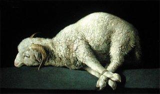 神の子羊  原画同寸