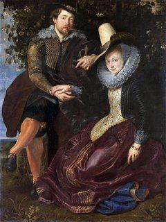 スイカズラの下のルーベンスとイザベラ・ブラント