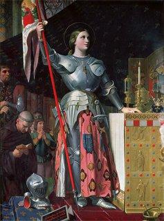 シャルル七世の戴冠式でのジャンヌ・ダルク