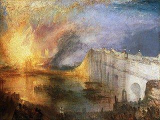 国会議事堂の火事、1834年10月16日