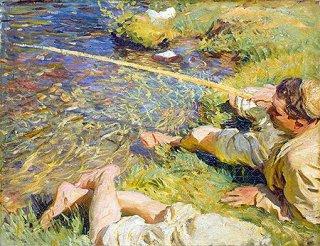 釣りをする男:ヴァッレ・ダオスタ