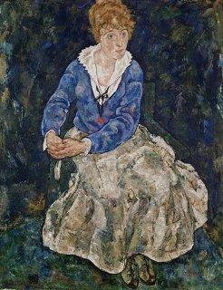 エーディト・シーレ、画家の妻の肖像