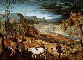 牛群の帰り(秋)