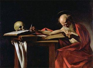 執筆する聖ヒエロニムス