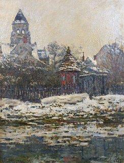 ヴェトゥイユの雪の教会
