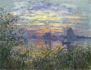 日没の海景
