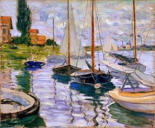 セーヌ川の帆船