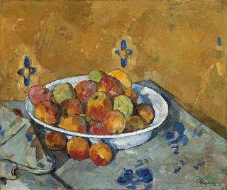 林檎の平皿  原画同寸
