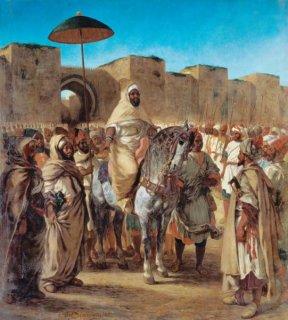 近衛兵たちに譲られたモロッコのスルタン