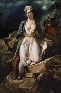 ミソロンギの廃墟に立つ瀕死のギリシア
