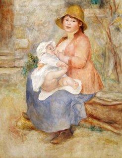 ルノワール夫人と息子ピエ−ル(母性)