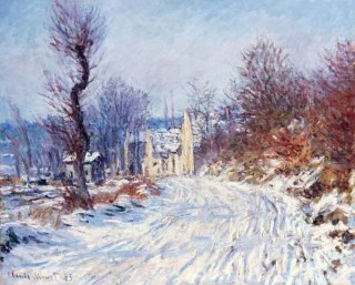 冬、ジヴェルニーへの道