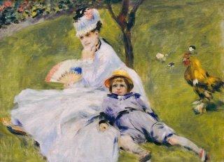 モネ夫人と息子、ジャン