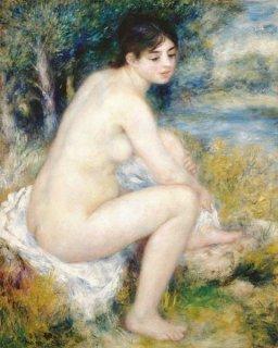 風景の中の裸婦  原画同寸