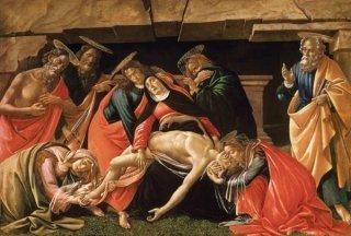 聖ヒエロニムス、聖パウロ、聖ペテロのいる哀悼