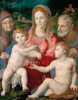 聖家族と聖アンナ、幼児聖ヨハネ(ウィーン美術史美術館作品)