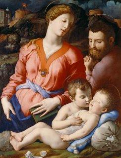 聖家族と幼児聖ヨハネ
