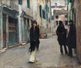 ヴェネツィアの通り  原画同寸