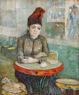カフェにて:ル・タンブランのアゴスティーナ・セガトーリ  原画同寸