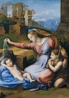 青い王冠の聖母