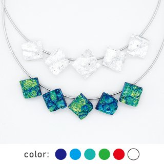 [Reflect] ネックレス(ガラス5連・ワイヤータイプ) (全6色) 母の日限定ギフトBOX付き