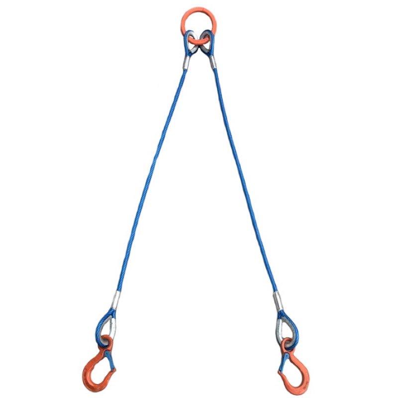 2点吊 カラーワイヤ 使用荷重 0.8t