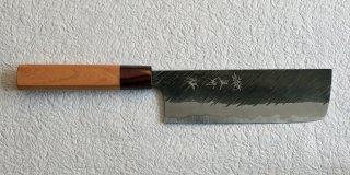 黒�優 「風神」黒打ち菜切り160� Yu Kurosaki