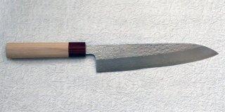 「越前」 牛刀210mm 積層鎚目