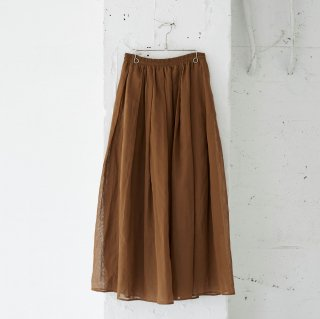 dry touch organdy-gather skirt