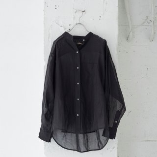 dry touch organdy-long sleeve shirt