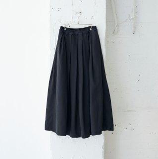 import  jacquard stripe-gather skirt