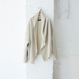 cotton/wool fleece-short cardigan
