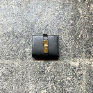 ミニウォレット ブラック×ゴールド金具
