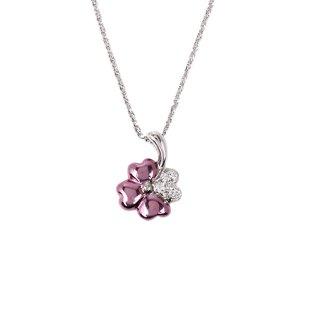 日本初 紫色の18金 K18パープルゴールドペンダントネックレス