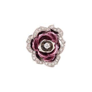 日本初 紫色の18金 プラチナ・K18パープルゴールドダイヤモンドリング