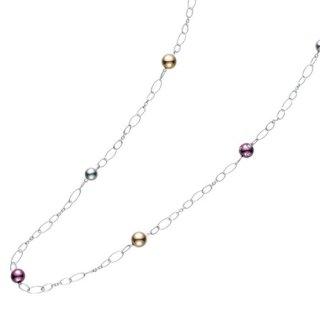 日本初 紫色の18金 K18ホワイトゴールドパープルゴールドネックレス