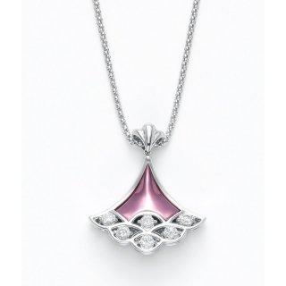 日本初 紫色の18金 K18ホワイトゴールド・パープルゴールドダイヤモンド入りネックレス