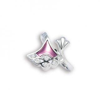 日本初 紫色の18金 K18ホワイトゴールド・パープルゴールドダイヤモンド入りリング