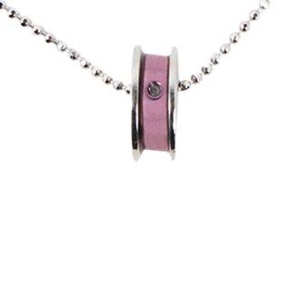 日本初 紫色の18金 K18ホワイトゴールド・パープルゴールドダイヤモンド入りペンダントネックレス