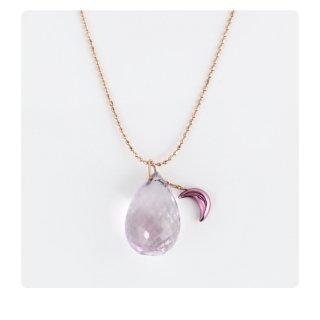 日本初 紫色の18金 K18パープルゴールド・K10ピンクゴールドペンダントネックレス