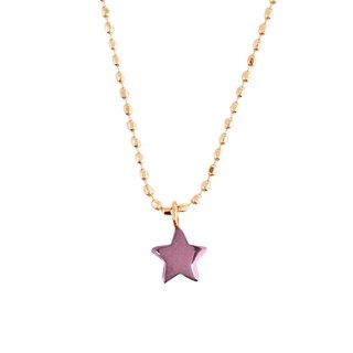 日本初 紫色の18金 K18ピンクゴールド・パープルゴールドペンダントネックレス