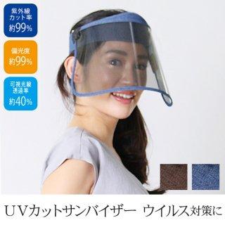 サンバイザー 視界クリアで99%UVカット 帽子 フェイスバイザー フェイスマスク TV通販で大人気 [7727]